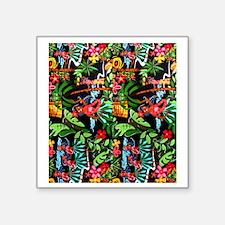"Hawaiian Girl FF Square Sticker 3"" x 3"""