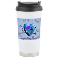 rt print 2 blue Travel Mug