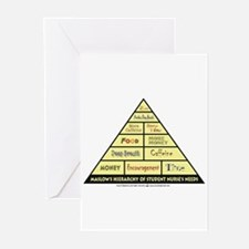Maslow's Student Nurse Hierarchy Greeting Cards (P