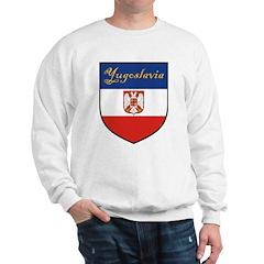 Yugoslavia Flag Crest Shield Sweatshirt