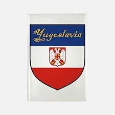 Yugoslavia Flag Crest Shield Rectangle Magnet