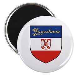 Yugoslavia Flag Crest Shield 2.25