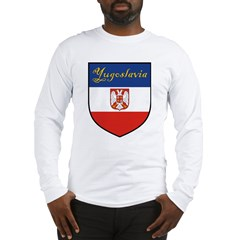 Yugoslavia Flag Crest Shield Long Sleeve T-Shirt