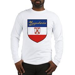 Yugoslavia Flag Crest Shield Long Sleeve T-Shirt
