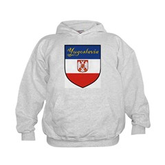 Yugoslavia Flag Crest Shield Hoodie