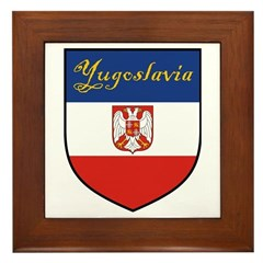 Yugoslavia Flag Crest Shield Framed Tile