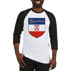 Yugoslavia Flag Crest Shield Baseball Jersey
