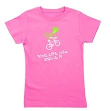 Ride like you stole it green white Girl's Tee