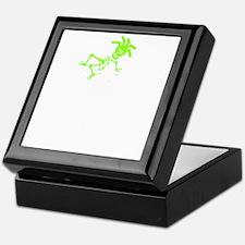 Ride like you stole it green white Keepsake Box