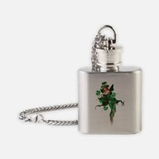 St patricks Day Fairy 02 Flask Necklace