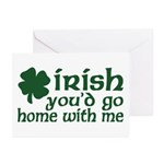 Irish Go Home With Me Greeting Cards (Pk of 10