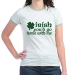 Irish Go Home With Me Jr. Ringer T-Shirt