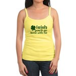 Irish Go Home With Me Jr. Spaghetti Tank