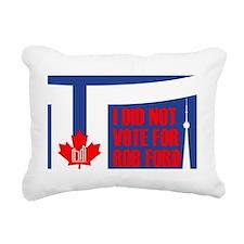 rob ford shirt 8 inch Rectangular Canvas Pillow