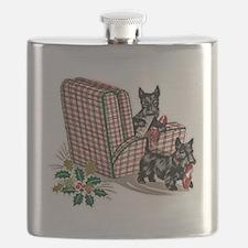 Scottish Terrier Christmas Flask