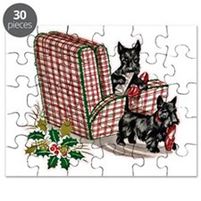 Scottish Terrier Christmas Puzzle