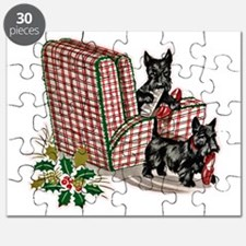 Scottish Terrier Christmas Puzzle