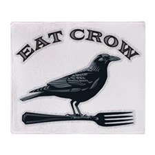 eat crow Throw Blanket