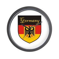 Germany Flag Crest Shield Wall Clock