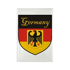 Germany Flag Crest Shield Rectangle Magnet (100 pa
