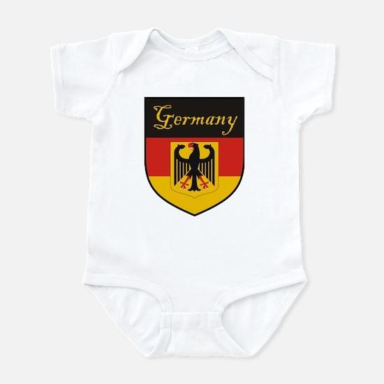 German baby clothes cafepress germany flag crest shield infant bodysuit negle Images
