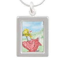 MotherGoose_iPadSleeve Silver Portrait Necklace