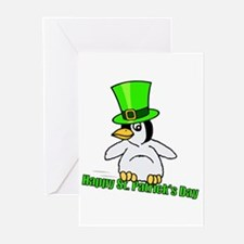 St. Patrick's Day Penguin Greeting Cards (Package
