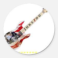 jukezoo_patriotic_guitar_white_le Round Car Magnet