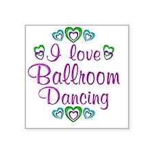 "ballroom Square Sticker 3"" x 3"""