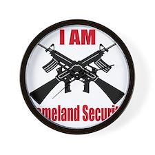 homeland security Wall Clock