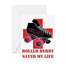 roller_derby_saved_me copy Greeting Card