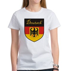 Deutsch Flag Crest Shield Women's T-Shirt