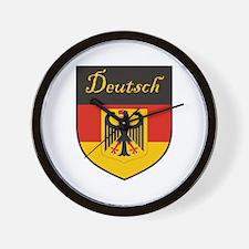Deutsch Flag Crest Shield Wall Clock