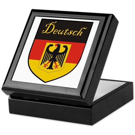 Deutsch Flag Crest Shield Keepsake Box
