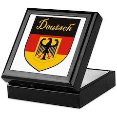 Deutsch Flag Crest Shield Keepsake Box