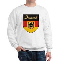 Deutsch Flag Crest Shield Sweatshirt