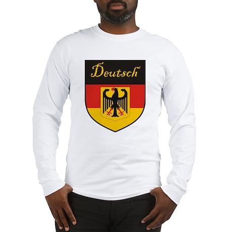 Deutsch Flag Crest Shield Long Sleeve T-Shirt