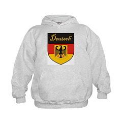 Deutsch Flag Crest Shield Hoodie