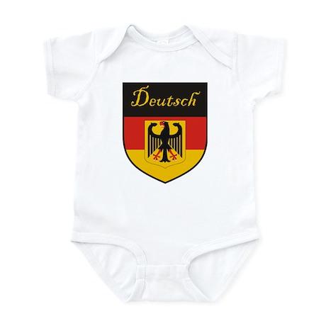 Deutsch Flag Crest Shield Infant Bodysuit