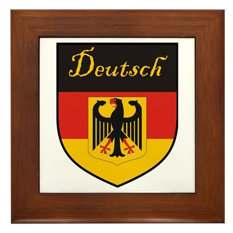 Deutsch Flag Crest Shield Framed Tile
