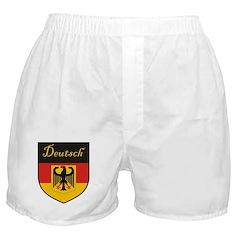 Deutsch Flag Crest Shield Boxer Shorts
