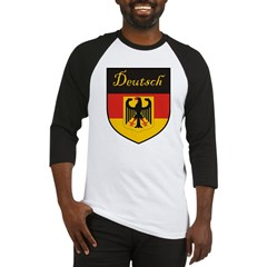 Deutsch Flag Crest Shield Baseball Jersey