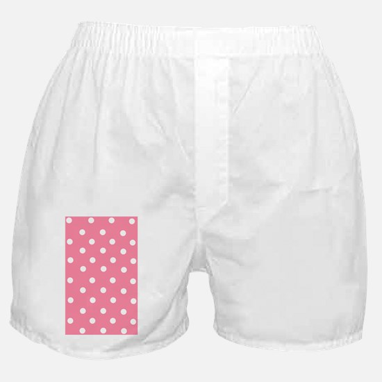 Pink with White Dots Boxer Shorts