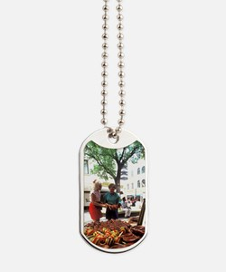 Tourists Shopping in Caribbean Curacao Dog Tags