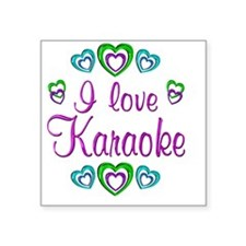 "karaoke Square Sticker 3"" x 3"""
