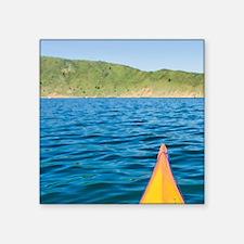 "Marlborough Sounds. Sea kay Square Sticker 3"" x 3"""