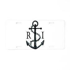 Rhode Island Anchor Aluminum License Plate