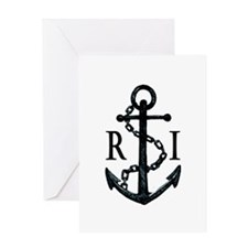 Rhode Island Anchor Greeting Cards
