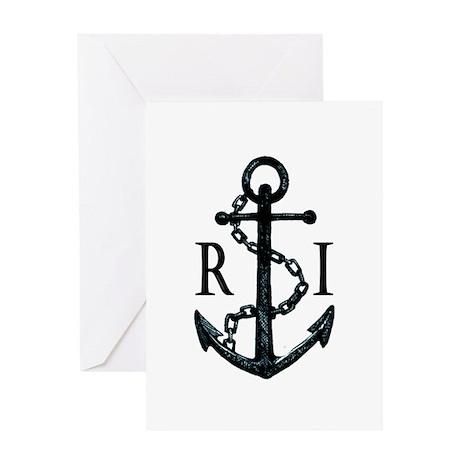 Rhode Island Anchor Greeting Cards
