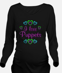 puppets Long Sleeve Maternity T-Shirt